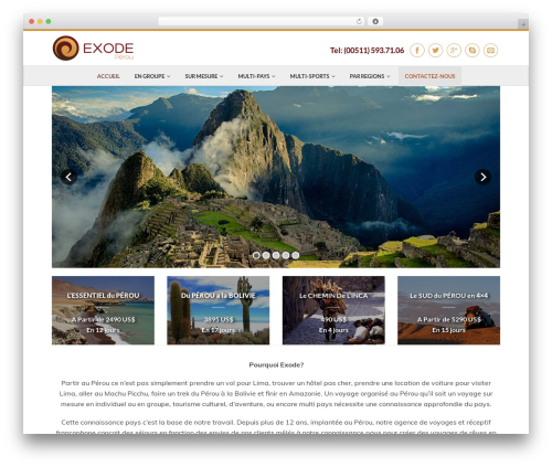 Flatsome WordPress theme - exodeperou.com