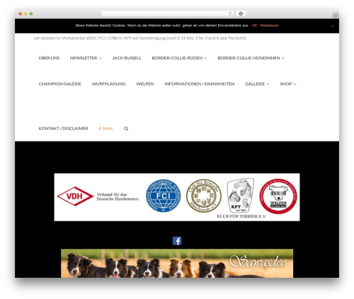 Pet Business company WordPress theme - border-collie-sawasdee.de