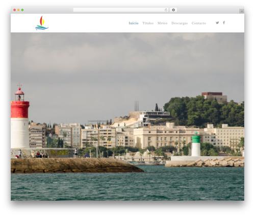 Salient WordPress website template - escuelanavegaciontriolas.es