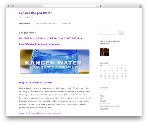 Twenty Twelve template WordPress free - explorekangenwater.com