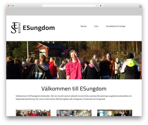 Alexandria free WordPress theme - esungdom.fi