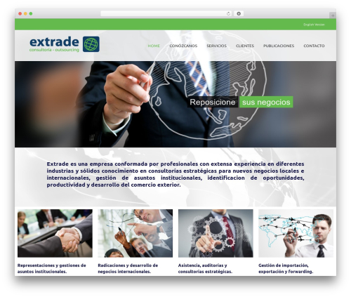 Best WordPress theme Avada - extradeconsulting.com.ar