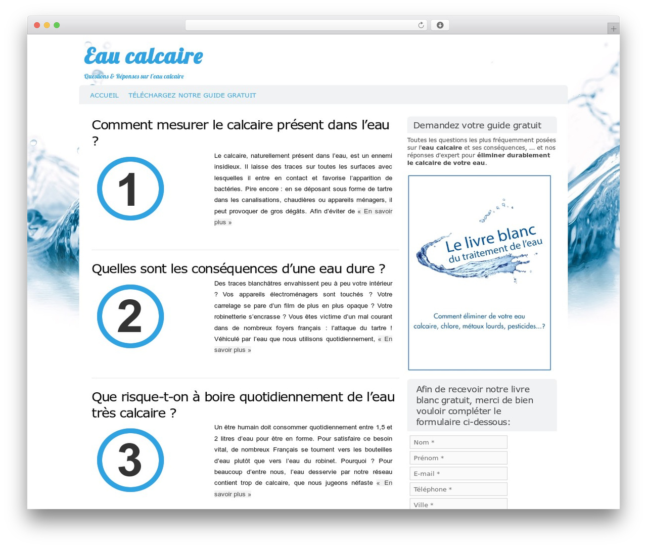 Codium WordPress Template Free Download By Henri Labarre Eau - O que é carrelage