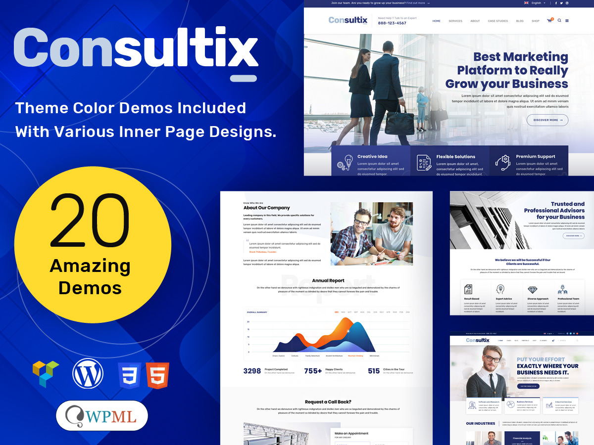 Consultix WordPress template for business