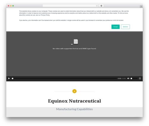 Dyad WordPress theme - equinoxnutra.com