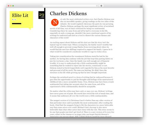 Esquire theme WordPress - elitelit.com