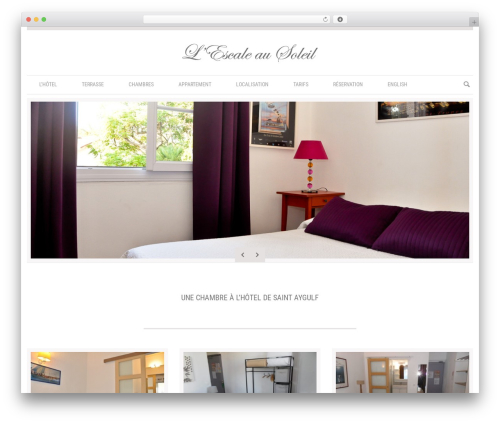 Klasik WordPress hotel theme - escaleausoleil.com