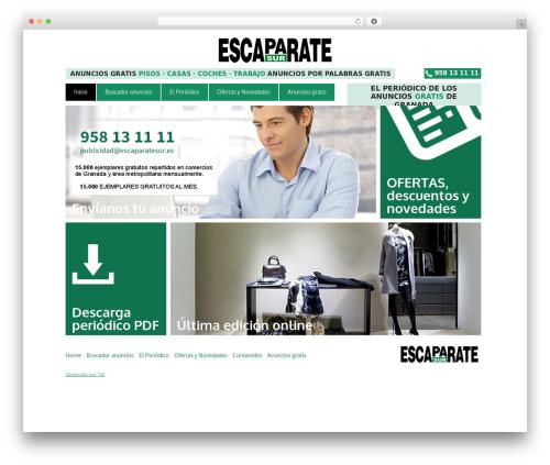 Metro WordPress theme design - escaparatesur.es