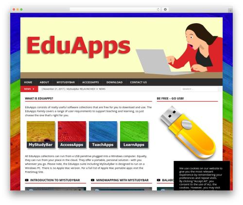 MH Magazine WordPress news theme - eduapps.org