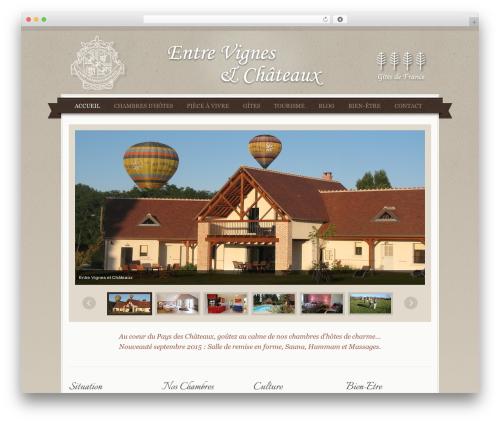 QueenHotel WordPress hotel theme - entre-vignes-et-chateaux.fr