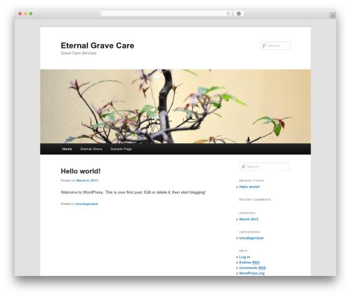 Twenty Eleven free website theme - eternalgravecare.com