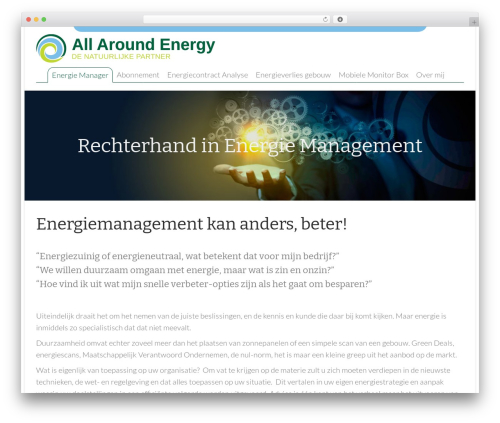 WordPress theme All Around Energy - energiemanager.allaroundenergy.nl