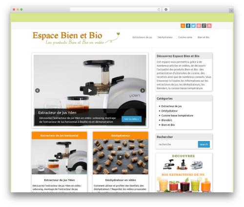 WP-PinUp best WordPress template - espace.bien-et-bio.com