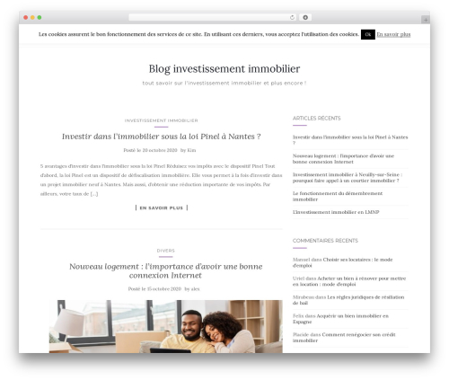 Activello WordPress theme design - france-immoplus.fr