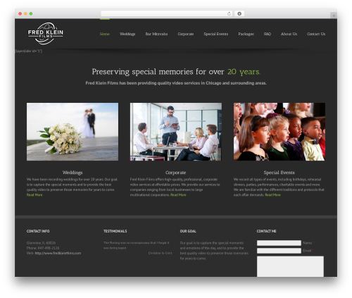 Avada top WordPress theme - fredkleinfilms.com