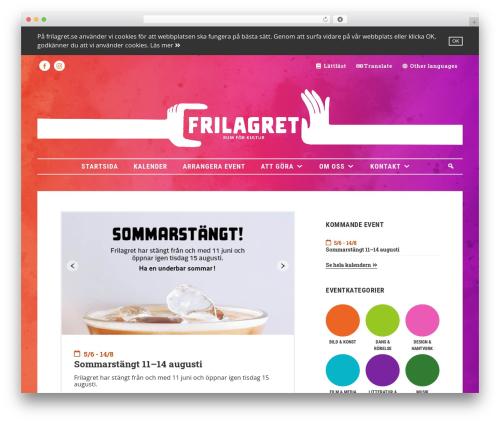 Avada WordPress theme design - frilagret.se