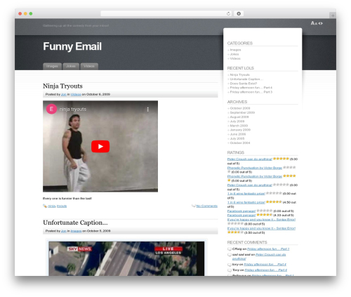 Best WordPress template Fusion - funny-email.co.uk