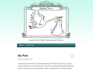 Best WordPress template MyBaby