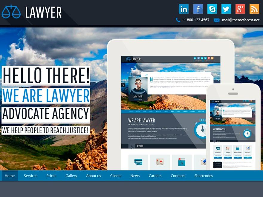 Best WordPress theme Lawyer Responsive WP Theme