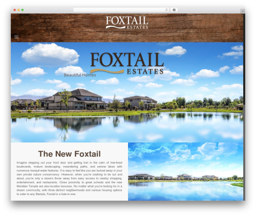 Betheme WordPress page template - foxtail-eagle.com