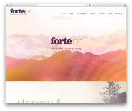 Bridge WordPress theme design - forteprlv.com