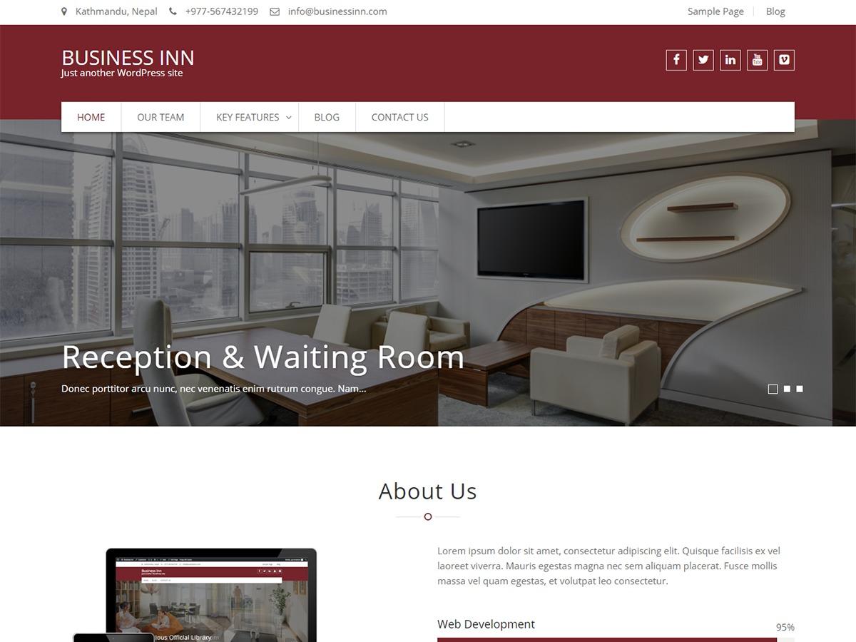 Business Inn template WordPress free