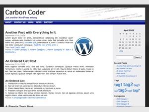 Carbon Coder best WordPress template