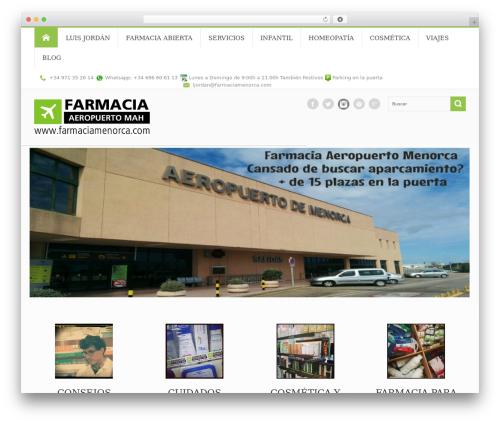 Circle theme WordPress blog theme - farmaciamenorca.com