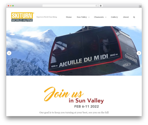 Clean Blocks WordPress theme - skiturn.com