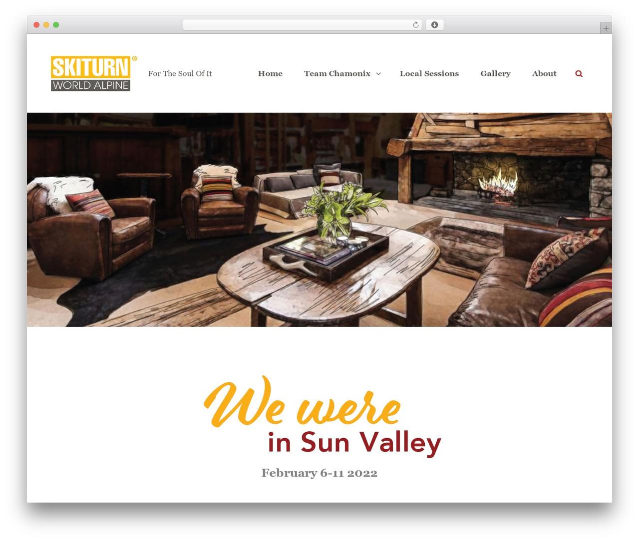 Clean Blocks WordPress theme - skiturn.com