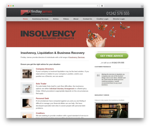 Clearly Modern WordPress template for business - findlayjames.co.uk