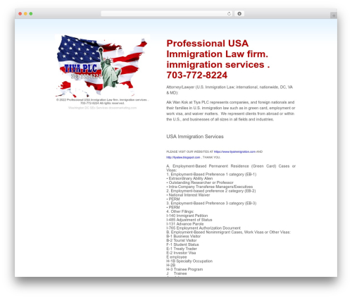 Coming Soon WordPress theme design - usaimmigrationservices.net