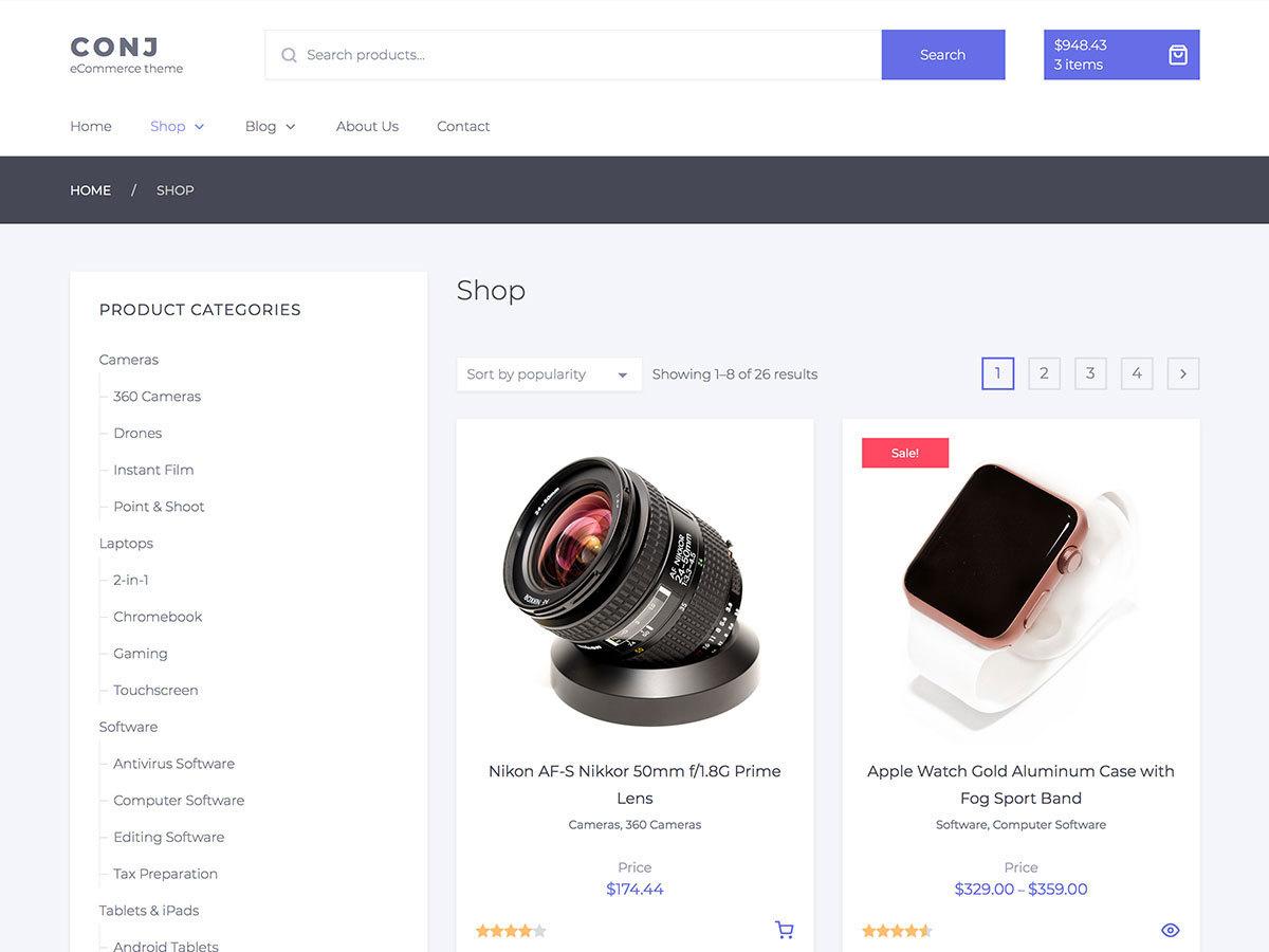 Conj Lite WordPress ecommerce theme