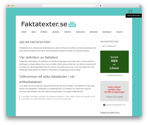 Free WordPress WP Bannerize plugin - faktatexter.se