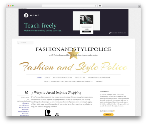 Elemin WordPress blog theme - fashionandstylepolice.com