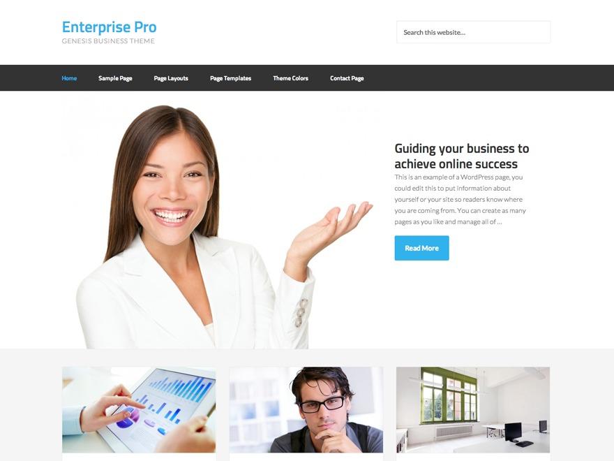 Enterprise Pro business WordPress theme