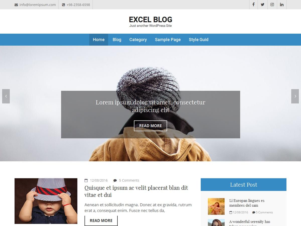 Excel Blog WordPress blog theme