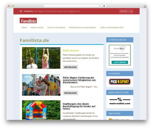 Extra top WordPress theme - familista.de