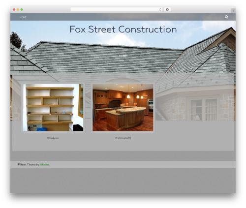 Fifteen free WordPress theme - foxstreetconstruction.com
