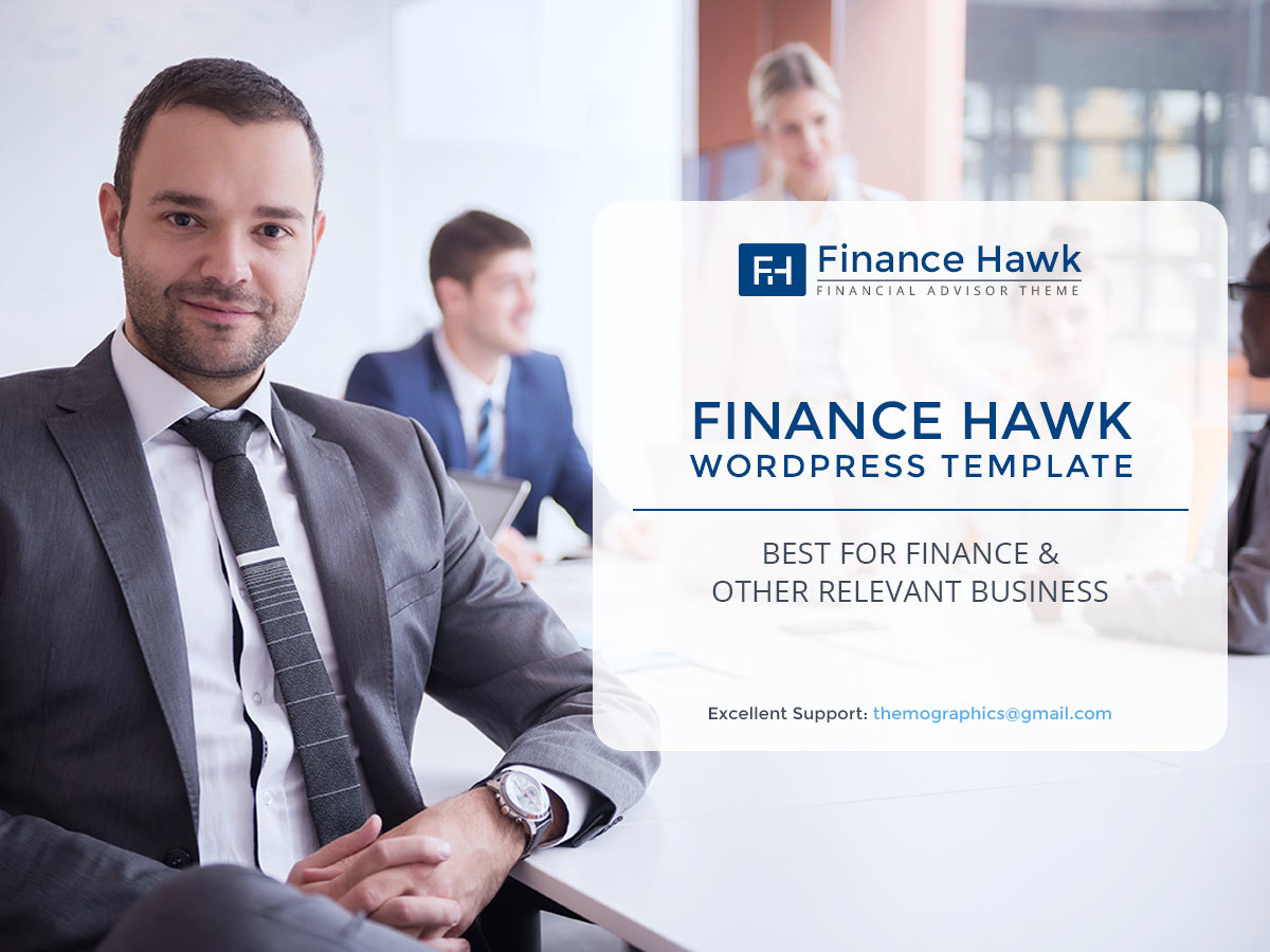 Finance Hawk WordPress template for business