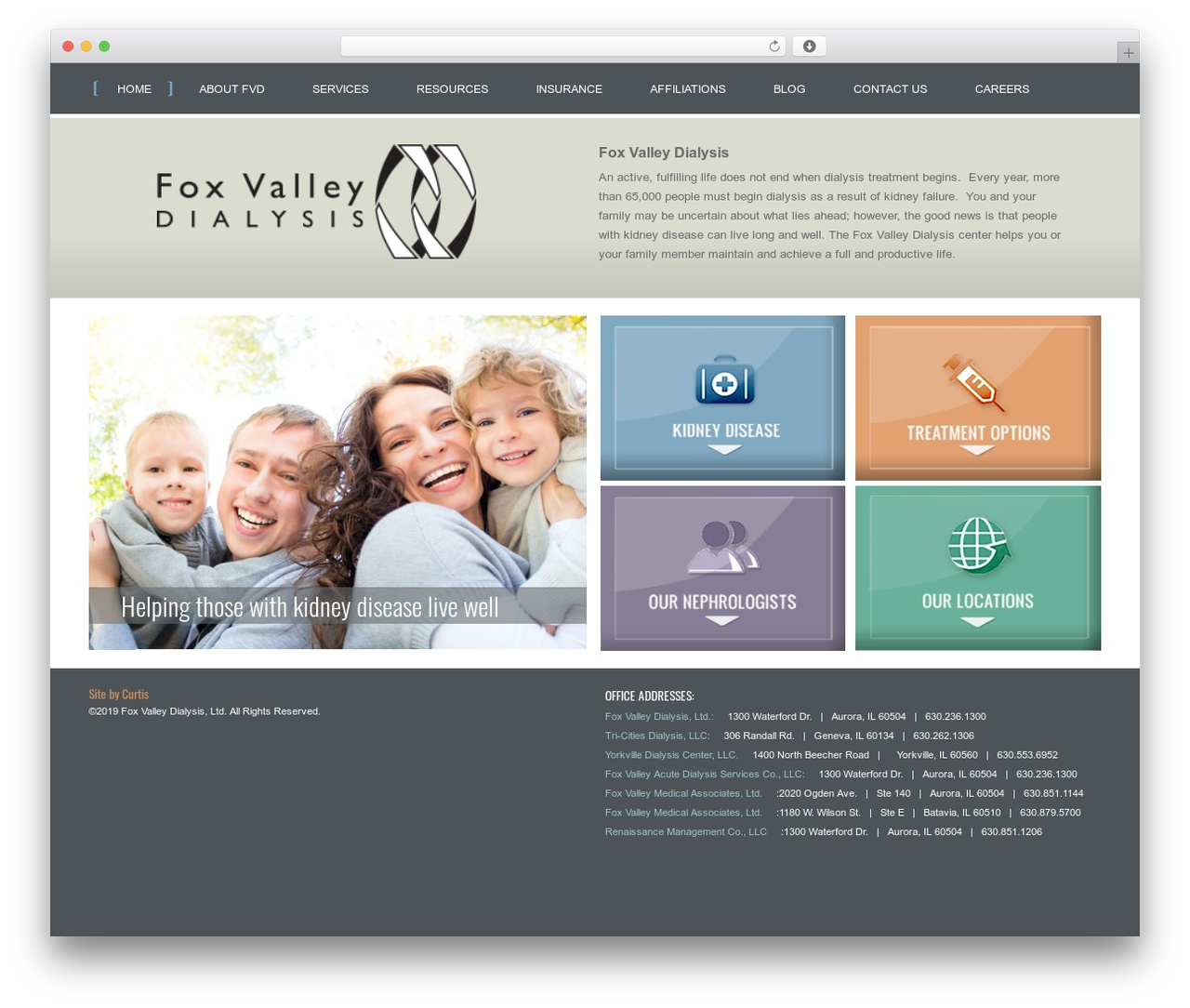 Fox Valley Dialysis top WordPress theme - foxvalleydialysis.com