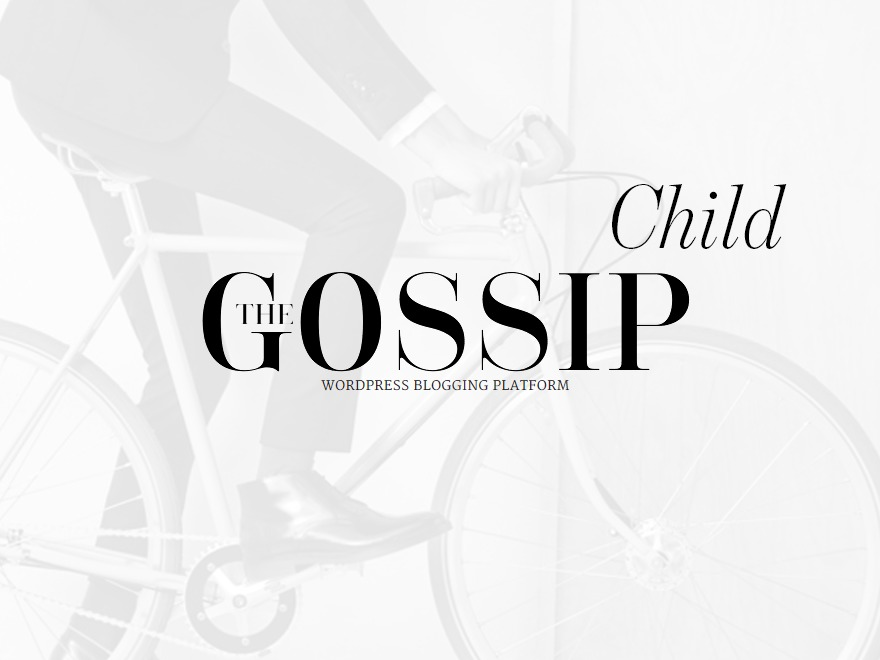 Gossipblog Child WordPress blog template