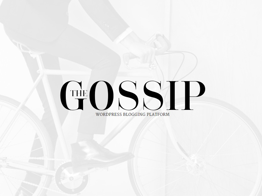 Gossipblog WordPress blog theme