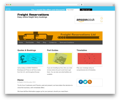 Gridiculous free WP theme - freightreservations.com