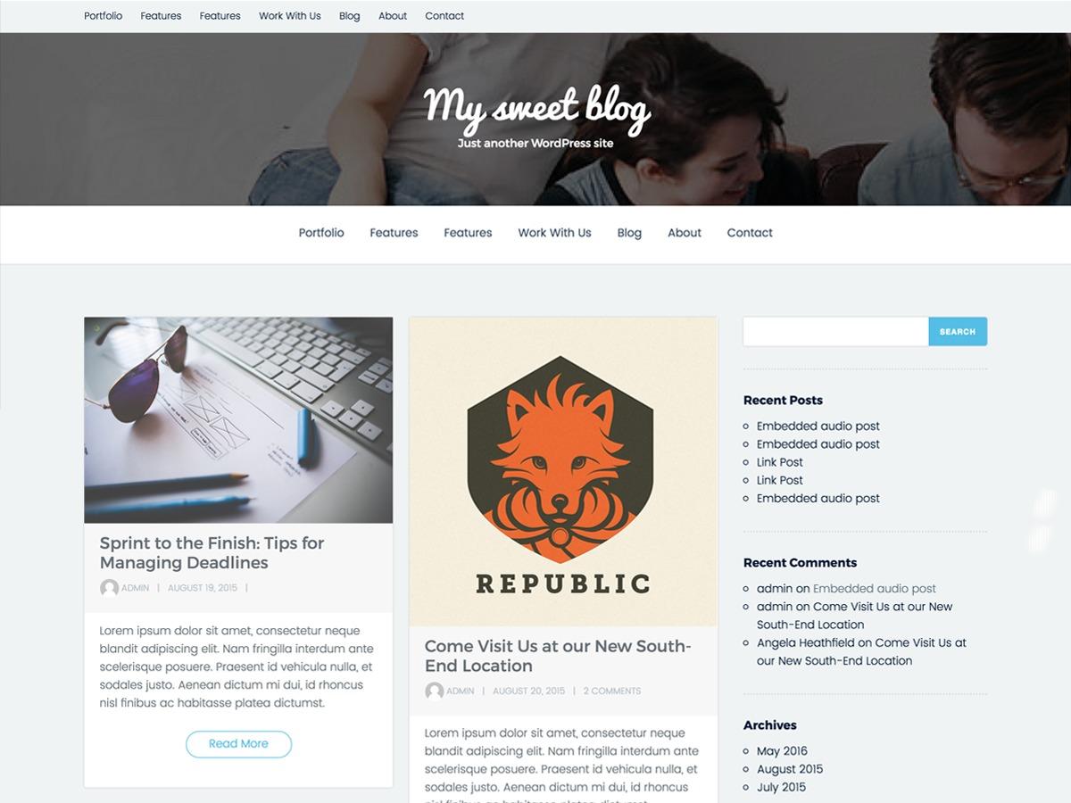 Grishma WordPress template free download