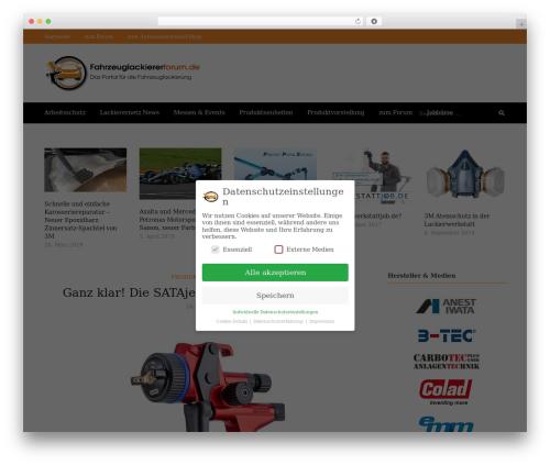 Higher Place WordPress theme - fahrzeuglackiererforum.de