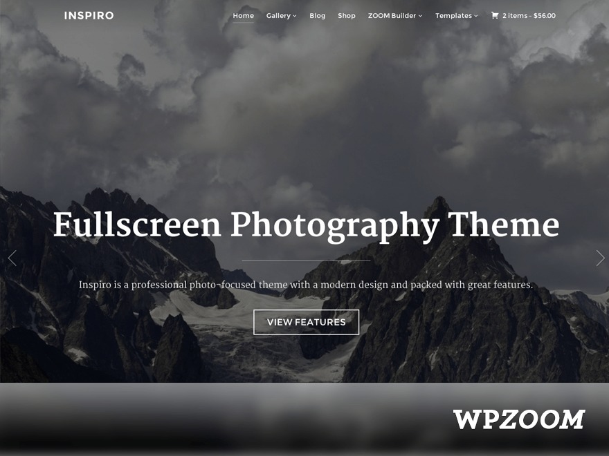 Inspiro WordPress template for photographers