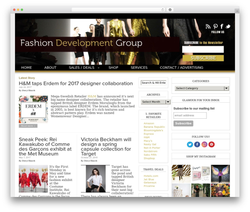 Magazine Basic template WordPress free - fashiondevelopmentgroup.com