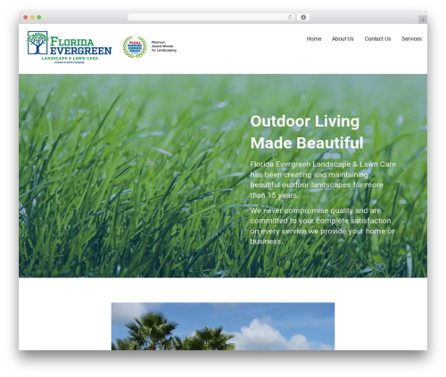 Mins WordPress theme - floridaevergreen.com