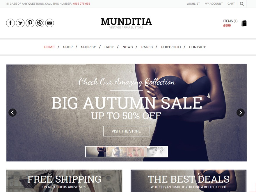 Munditia WordPress ecommerce template